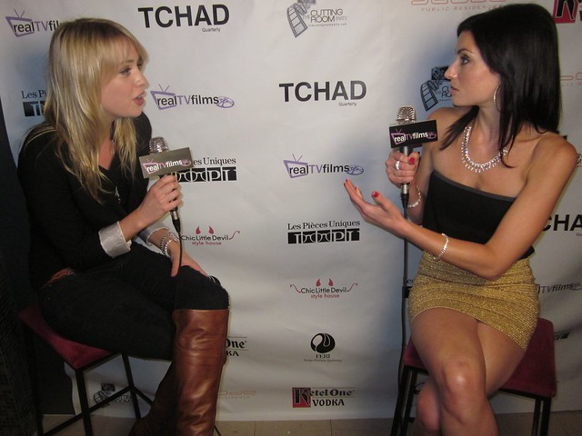 Alexz Johnson, Samantha Gutstadt, RealTVfilms Social Media Lounge