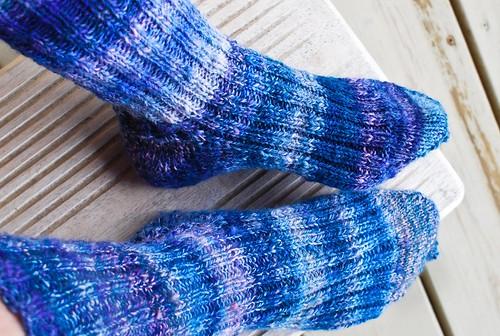 Indigo handspun socks