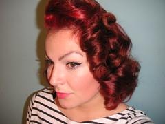 Jayne Mansfield Inspired hairstyle (angeliai) Tags: vintage retro 1950s rockabilly redhair hairstyle volume pincurls hairstyling jaynemansfield