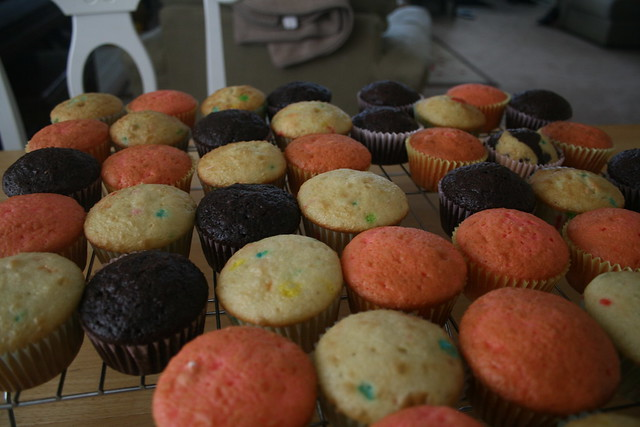 cupcake heaven? not yet.. no frosting...