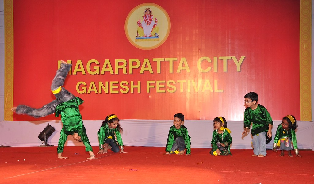 Talented kids perform at the Magarpatta City Ganesh Festival