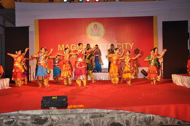 Traditional songs  & rhythm via Geet Ramayana at Magarpatta City Ganesh Festival
