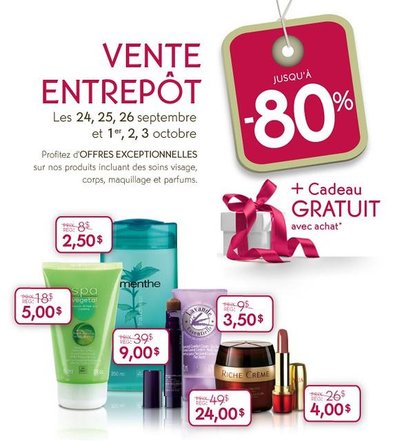 Vente d'entrepôt Yves Rocher - 24-26 septembre et 1-3 octobre 2010