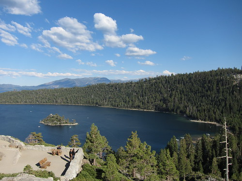 Emerald Bay et son ile, sur Lake Tahoe