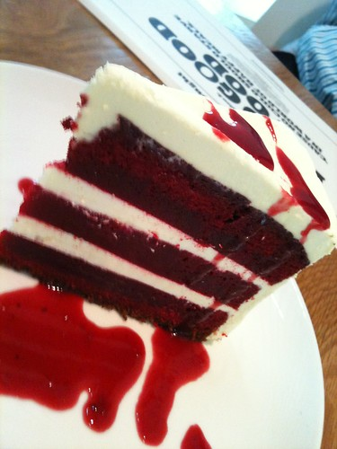 the red velvet cake at Food for thought