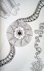 Rollercoaster Sun 9-20-10 (theHyperMonkey) Tags: art drawing doodle zentangle
