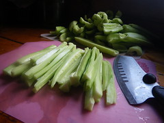 Dicing cukes for relish