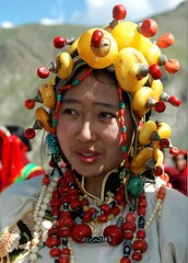 4803370477568516870 (BetterWorld2010) Tags: tibetans coral festival gold amber necklace beads costume treasure dress jewelry tibet ring celebration bracelet amdo kham sichuan traditionalcostume 2009 litang headdress robes yushu  tibetanwoman    khampa golok lithang tibetangirl tribalcostume tibetanfestival  tibetanwomen