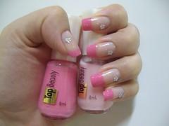 Francesinha: Lichia + Ninfa - Top Beauty ♥ (Thálita ♥) Tags: rosa unha francesinha