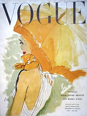 French Vogue-July/August 1950 (Fashion Covers Magazines) Tags: eric vogue 1950s 1950 1950sfashion vintagefashion vintagemagazine frenchvogue