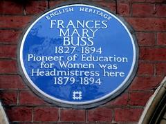 Photo of Frances Mary Buss blue plaque