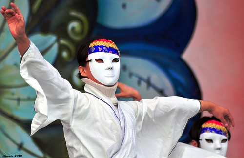 Masked Dancer -- Opening Ceremony 39th Andong Mask Dance Festival, Andong, South Korea