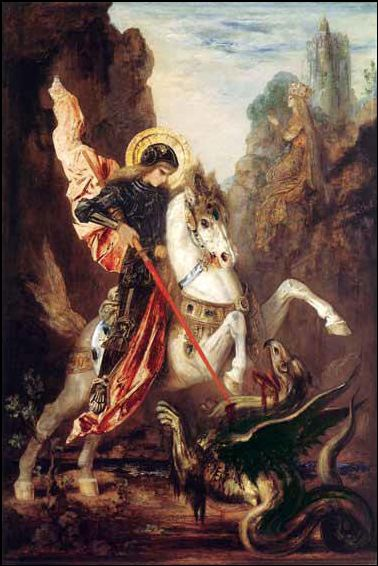 St George and dragon oil