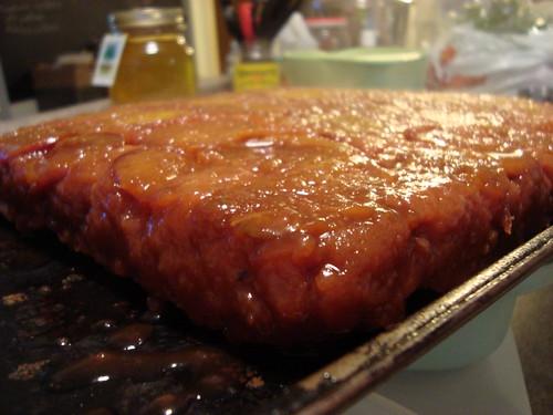 zucchini plum upside down cake