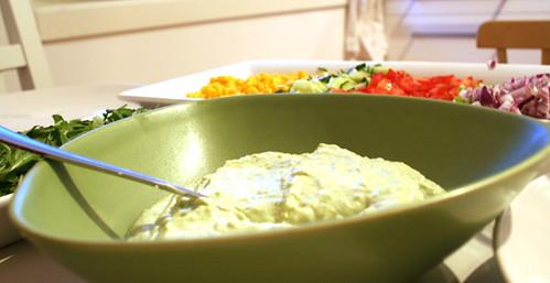 Grön guacamole