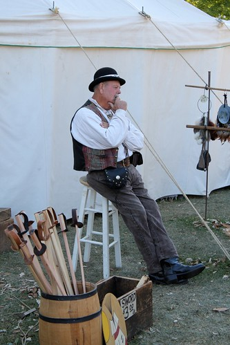 Pioneer with Wooden Swords