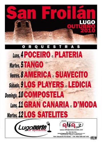 Lugo - San Froilán 2010 - cartel orquestras