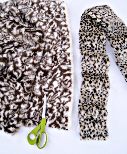 faux fur leopard scarf DIY -1