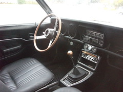 1973 Mazda 808 (dave_7) Tags: old classic car yellow japanese classiccar interior 8 dash 70s dashboard mazda 1973 73 steeringwheel lethbridge 808 rx3 slotmag