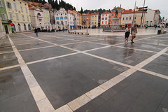 Piran pavement (Thomas Roland) Tags: sea by square town slovenia piazza piran slovenija adriatic hav plads slovenien tartini torv adriaterhavet