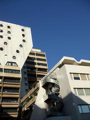 (lepublicnme) Tags: blue sky paris france building architecture september bleu immeuble 2010