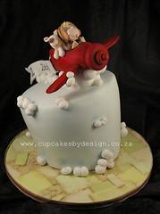 Zach's Aeroplane Topsy Turvy (Dot Klerck....) Tags: boy sky dog cake plane southafrica fly capetown dot topsyturvy cupcakesbydesign