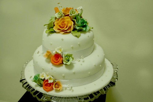 Two Stacked Simple Wedding Cake