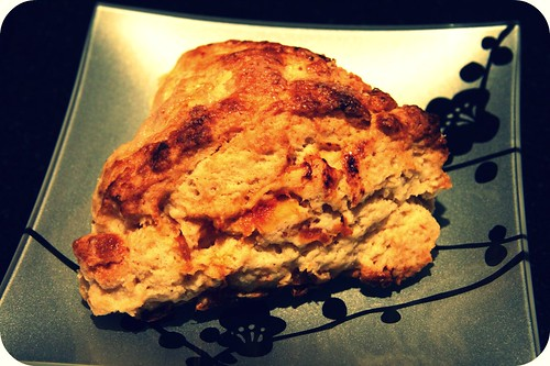 plated scone