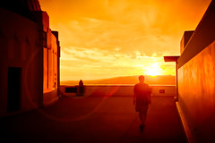 Walking off into the sunset (A.C.Thamer) Tags: sunset red sky orange canon losangeles sundown observatory burn griffithpark fireinthesky thamerphotography acthamer alexthamer