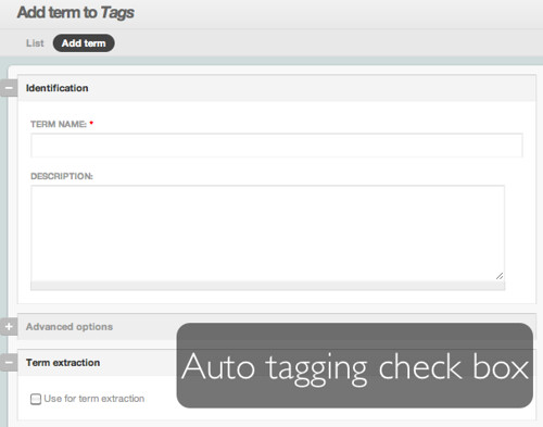 Make a watch list of terms to auto-tag