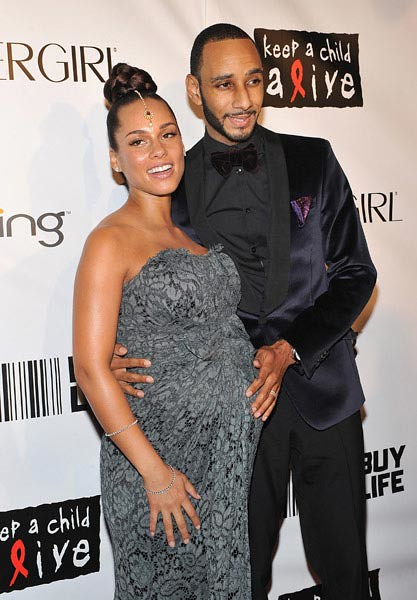 A Very Pregnant Alicia Keys and Hubby Swizz Beatz at Keep A Child Alive's Black Ball by Candy_Kirby