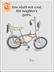 Oh, but I did! (Orion60) Tags: bicycle illustration digital stingray cartoon fingerpaint ipad stripdesign