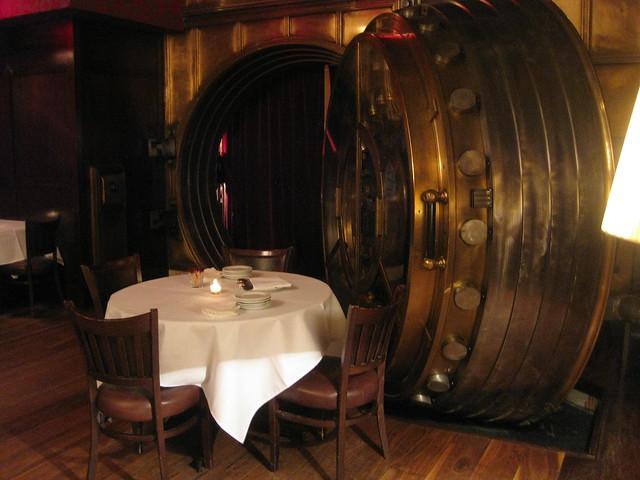bank vault restaurant