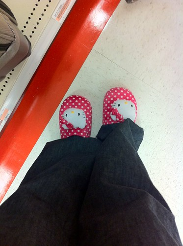 Apparently I fit into childrens slippers.