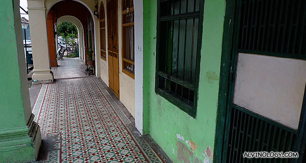 Penang has lots of retro shophouses facade like this