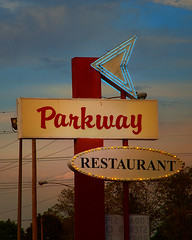 The Parkway (Pete Zarria) Tags: rural illinois corn midwest farm elevator iowa gasstation americana smalltown lincolnhighway farmtown rfd omot