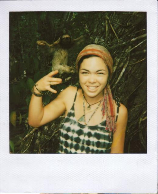 three-toed sloth + three-fingered me