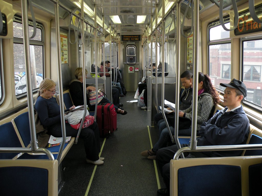 Interior of the 5000-series rail car prototypes