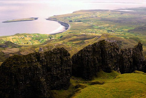 View from the Quiraing Isle of Skye Scotland