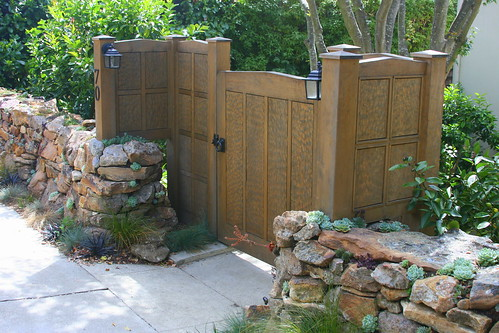 rock wall gate