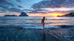 Sunset in Ibiza (Stuck in Customs) Tags: world ocean travel sunset sea espaa sun beach water rock set clouds digital island photography blog high spain community europe mediterranean surf dynamic stuck candid postcard scenic september photoblog ibiza software processing imaging eivissa range hdr province tutorial trey hiney archipelago travelblog customs 2010 balearic iberian illesbalears autonomous ratcliff reinodeespaa hdrtutorial stuckincustoms treyratcliff pineislands photographyblog stuckincustomscom islaspitiusas comunidadautnoma nikond3x illespitises pityuses