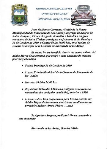 Invitacion Rinconada de los Andes