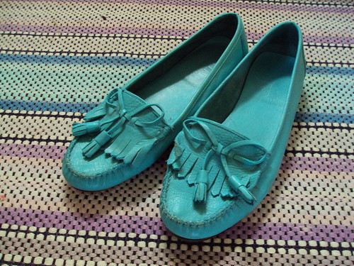 Nine West Teal Loafers