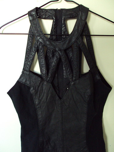Leather Cutout Dress Close-up