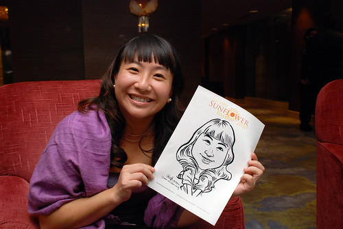 Caricature live sketching for The DPH Sunflower Ball 2010 -5