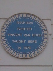 Photo of Vincent Van Gogh blue plaque