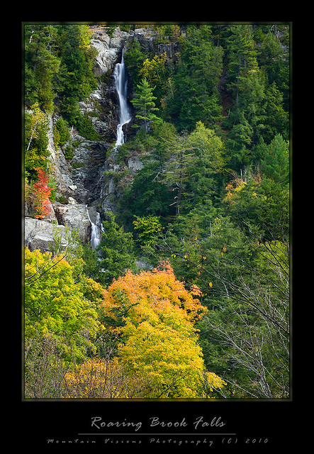 Roaring Brook Falls Foliage, Adirondacks