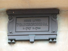 Photo of Thomas Gainsborough bronze plaque