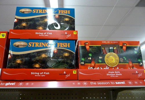 Jingle Bells Shotgun Shells and String of Fish