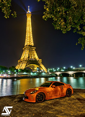 One of a kind (A.G. Photographe) Tags: paris france tower seine night japanese nikon tour nissan eiffeltower eiffel toureiffel nikkor nuit quai franais hdr parisian japonais anto xiii parisien japonaise d700 antoxiii hdr7raw niassan350z